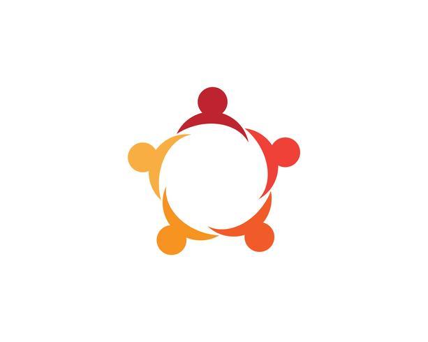 Gemenskapens omsorgslogo och symbolmall