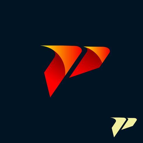 logo moderne de lettre P. modèle de conception de vitesse rapide