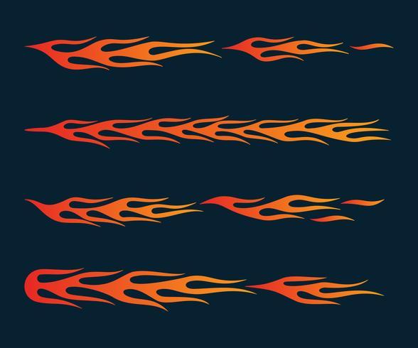 Flammes de feu de style tribal pour déco tatouage, véhicule et t-shirt