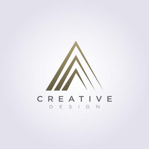 Abstract driehoek vector illustratie ontwerp Clipart symbool Logo sjabloon