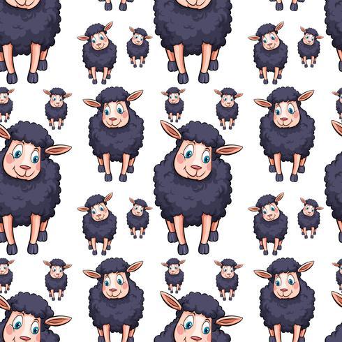 Naadloos ontwerp als achtergrond met zwarte sheeps