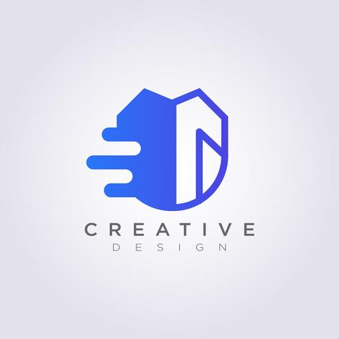 Snelheid en beveiliging Vector illustratie ontwerp Clipart symbool Logo sjabloon