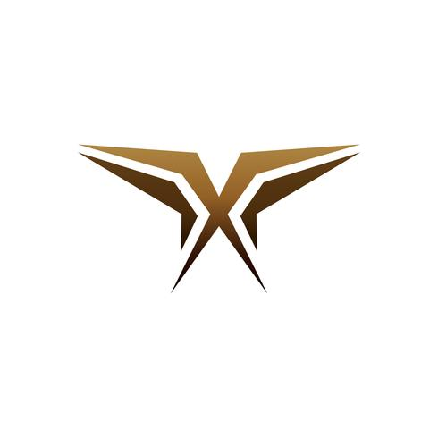 luxury letter x logo design concept template