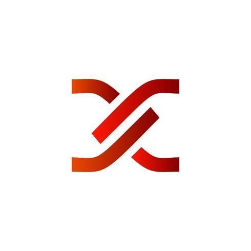 brev x logo design koncept mall