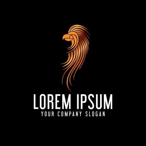 modelo de conceito de design de logotipo de pássaro de luxo