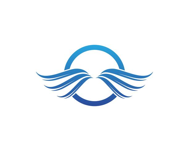 Wings Logo Vektor-Illustration