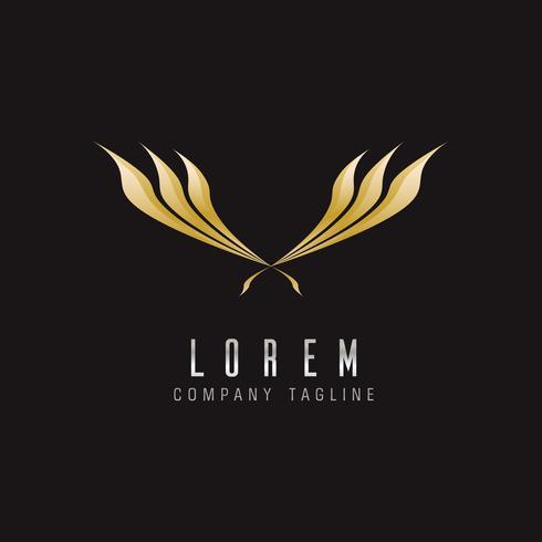 Plantilla de concepto de diseño de logotipo de alas de lujo vector
