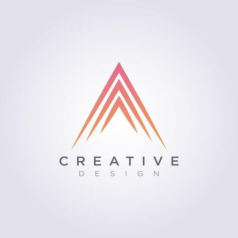Abstrakt Triangel Vektor Illustration Design Clipart Symbol Logo Mall