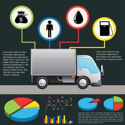 Ett informationsschema på en leveransbil