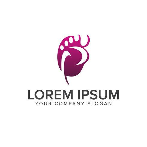 Beinleute-Logo-Konzeptentwurfsschablone