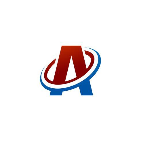 letra A logo. modelo de conceito de design de logotipo de fatia