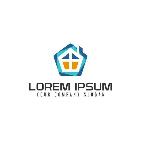 Onroerend goed logo. Hypotheek huis Onroerend goed logo ontwerpconcept