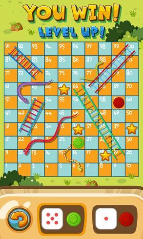 Modelo de jogo de escada de cobra