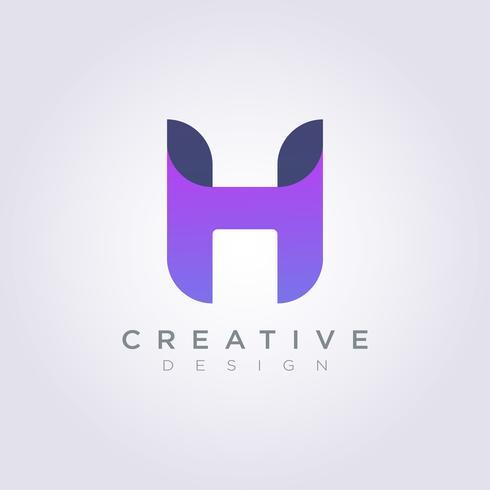 Buchstabe H-Vektor-Illustrations-Design Clipart-Symbol Logo Template