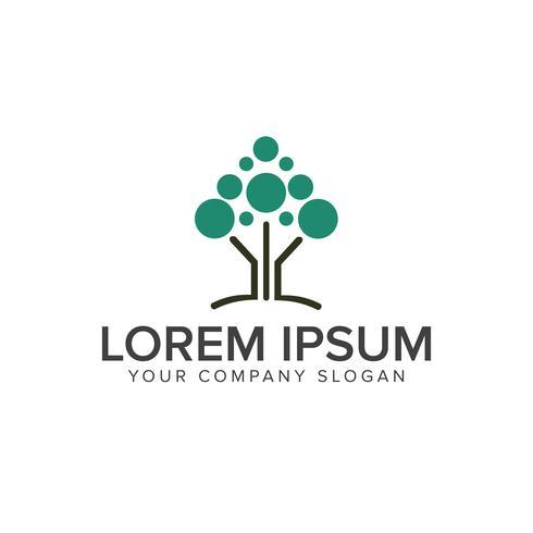 modèle de concept de design moderne logo arbre