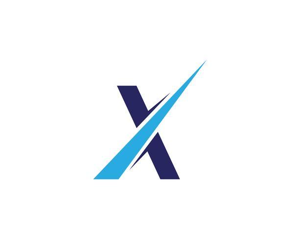 X Logo Template vector ícone do design