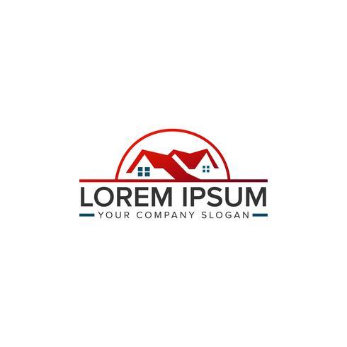 Logotipo imobiliário. Modelo de conceito de design de logotipo de imóveis de hipoteca