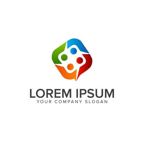 Menschen Business und Consulting-Logo. Teamarbeit Kommunikationsgruppe
