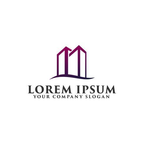 Modelo de conceito de design de logotipo imobiliária construção arquitetônica