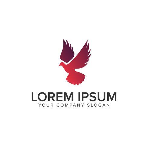 modello di concetto di progettazione di logo uccello volare