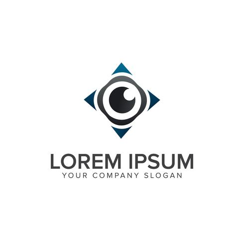 Modello di concetto di progettazione di logo bussola occhio