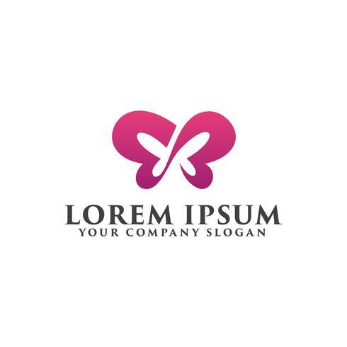 Logotipo de personas mariposa, plantilla de concepto de diseño de logotipo de belleza spa d