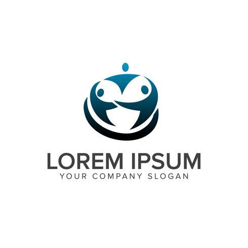 Plantilla de concepto de diseño de logotipo de socios de red de personas vector