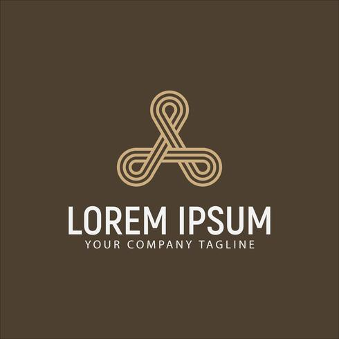 luxury modern letter A logo design concept template vector