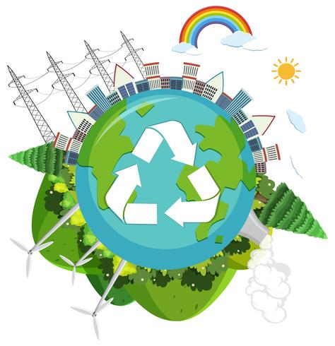 Un logo de naturaleza verde.