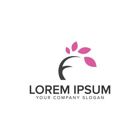 letter F boom Logo ontwerpsjabloon concept