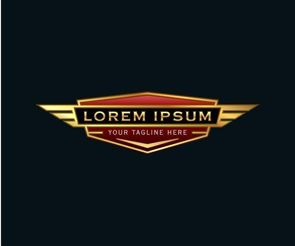 logo di lusso distintivo ali. modello di concetto di auto-design