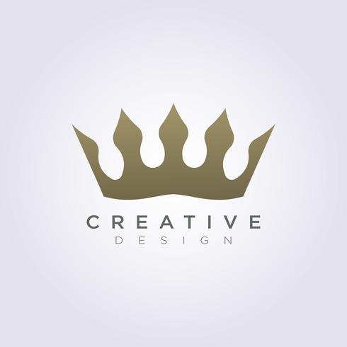 The Crown of the Kingdom Vector Illustration Design Clipart Symbol Logo Template