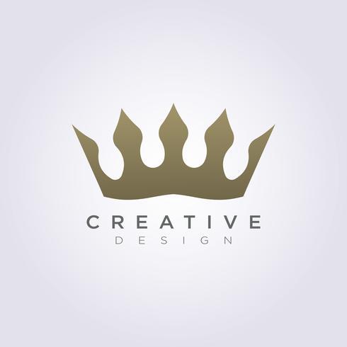 La couronne du royaume Vector Illustration Design Clipart Logo Logo Template