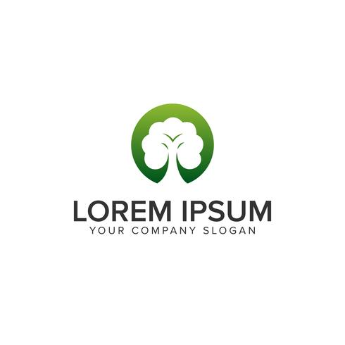 grüne Baum-Logo-Design-Konzept-Vorlage vektor