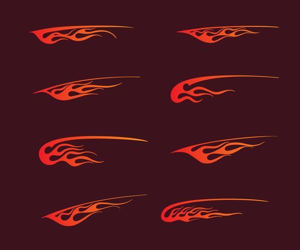 brandflammar i tribal stil för tatuering, fordon och t-shirt deco
