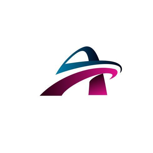 logotipo de la letra A. plantilla de concepto de diseño de logotipo de tecnología
