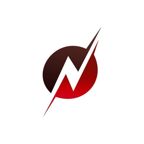 Buchstabe N Logo-Design-Konzept-Vorlage
