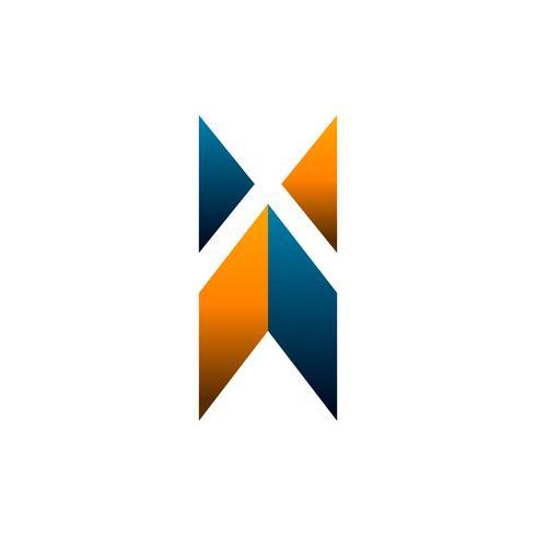 letter x logo. construction logo design concept template