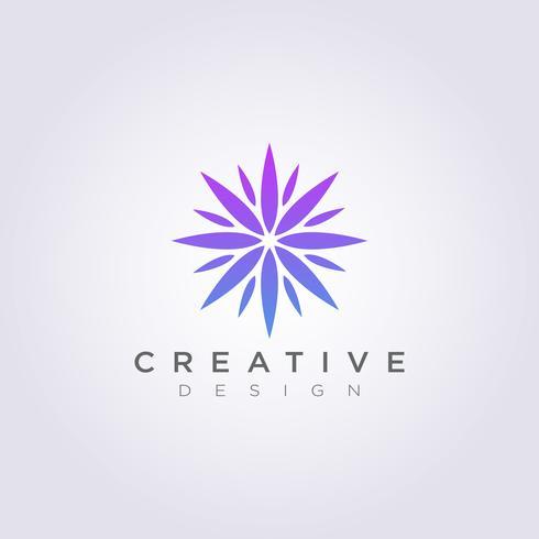 Schoonheid bloem abstracte CIrcle vectorillustratie Clipart symbool Logo embleem
