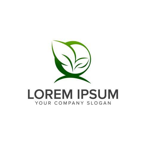 leaf nature logo design concept template