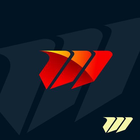 modern letter M logo. speed fast design concept template