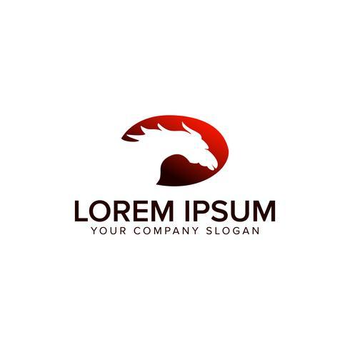 luxe paard logo ontwerpsjabloon concept