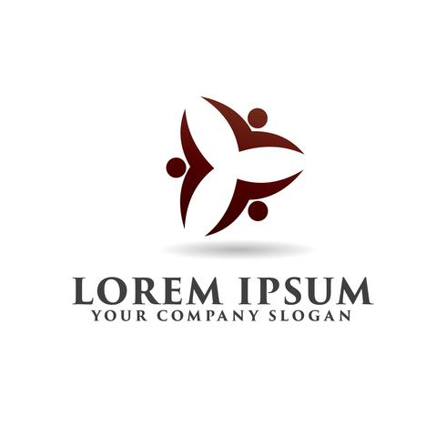 people Business and Consulting logo. teamwork communication grou