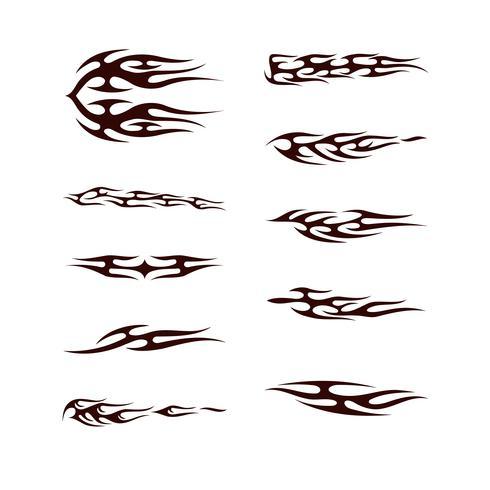 Conjunto de colección tribal de tatto. Totem de tatoo de llama ilustración vectorial de diseño