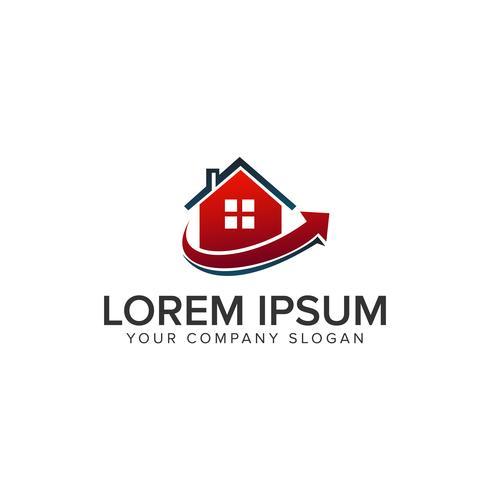 Logotipo de bienes raíces. Plantilla de concepto de diseño de logotipo de hipoteca casa inmobiliaria vector