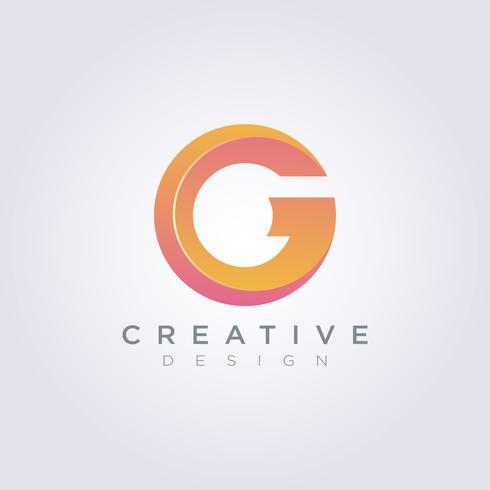 Letra G Vector ilustración diseño Clipart símbolo Logo plantilla