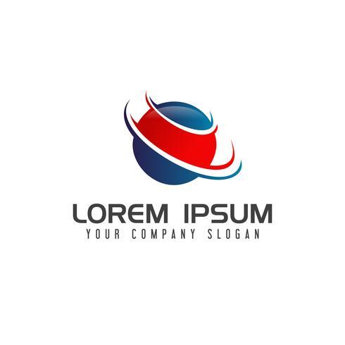 abstrakt global logo logotyp koncept mall