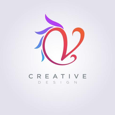 Letter V Vector Illustration Design Clipart Symbol Logo Template