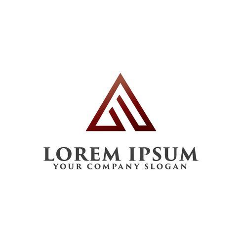 Plantilla de concepto de diseño de logotipo letra A