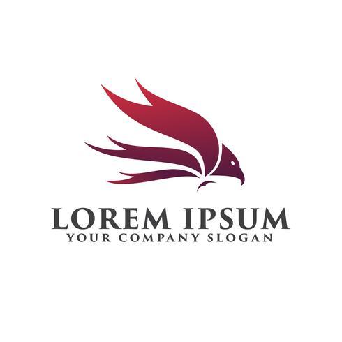 Plantilla de concepto de diseño de logotipo de aves de lujo